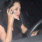 Angelina's iPhone Moment