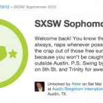 Foursquare Rules SXSW