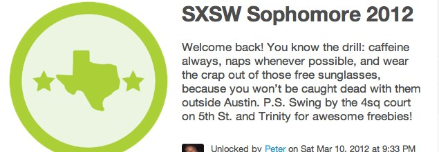 Foursquare Rules SXSW