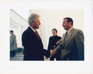 With Pres. Clinton at WW II Memorial Dedication