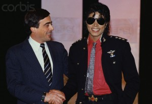 Roger Enrico and Michael Jackson Shaking Hands