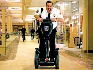 "Paul Bart riding a Segway in ""Mall Cop"""