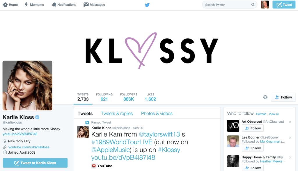 Karlie Kloss on Twitter