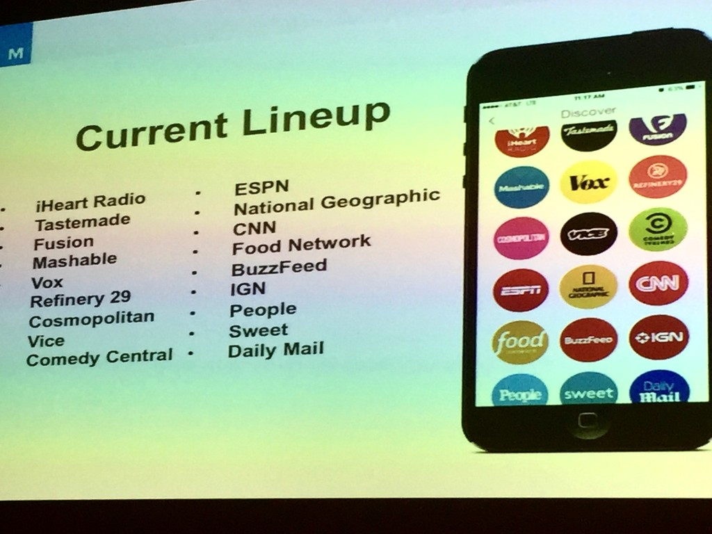 Media Brands on Snapchat Discover