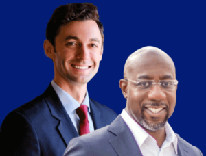 Jon Ossof and Rev. Raphael Warnock